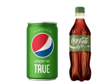 펩시사와 코카콜라사의 새로운 드링크 제품들